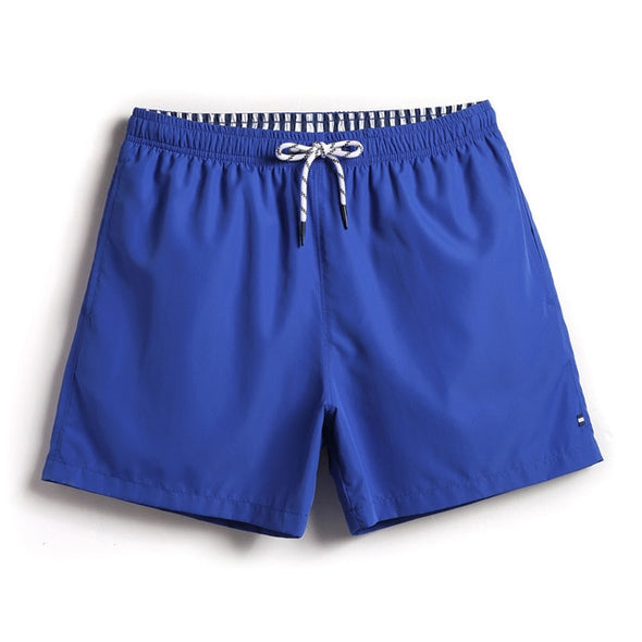 Solid Color Swim Trunks