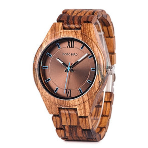 Touch of Sapphire Wood Watch