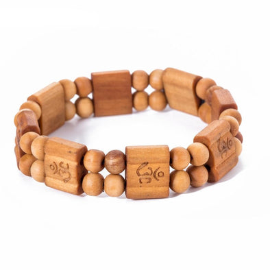 Engraved Wood Tribal Bracelet