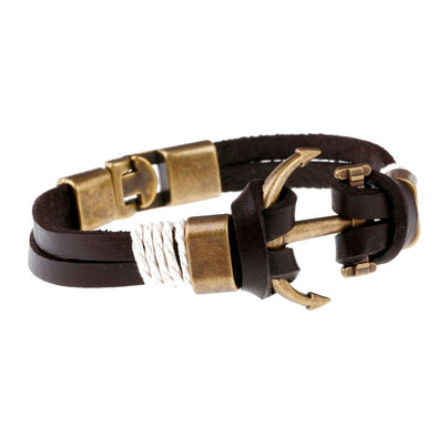 Premium Nautical Leather Bracelet