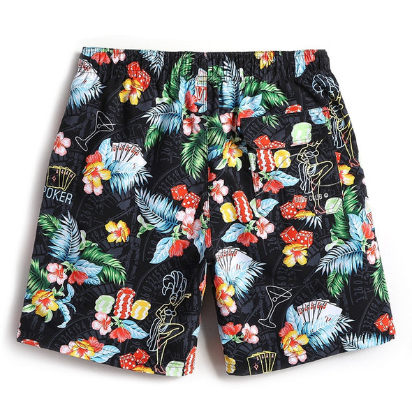 Tropical Gambler Swim Trunks