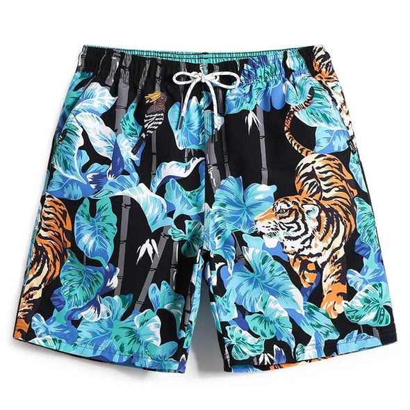 Ice Tiger Swim Trunks