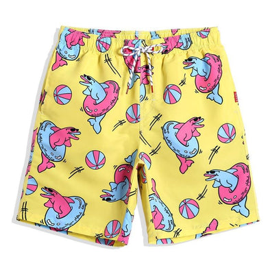 Dashing Dolphins Swim Trunks