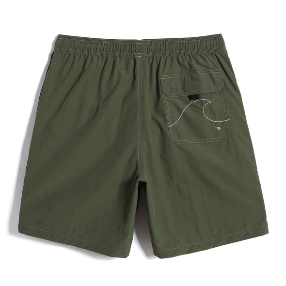 Olive Drab Swim Trunks