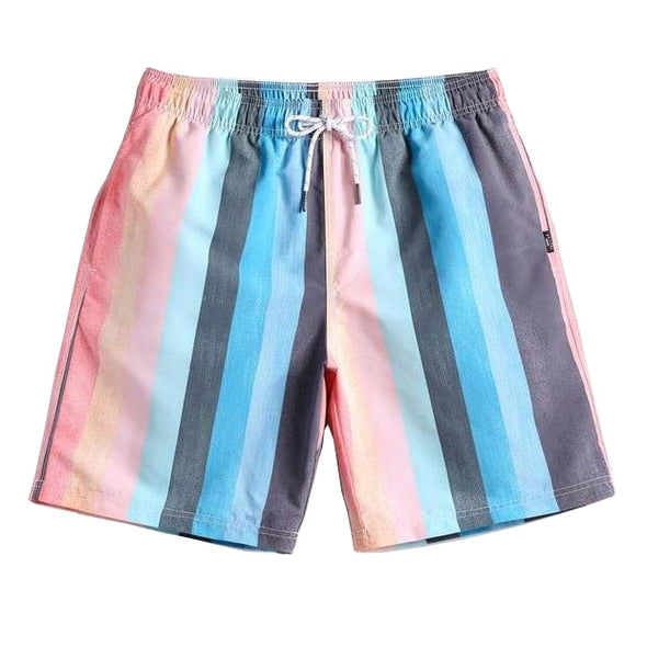 Salmon Striped Swim Trunks