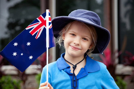 Citizen with Australian Flag