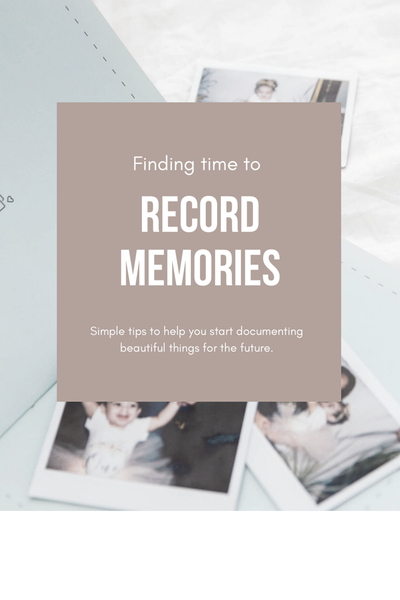 Finding time to record memories