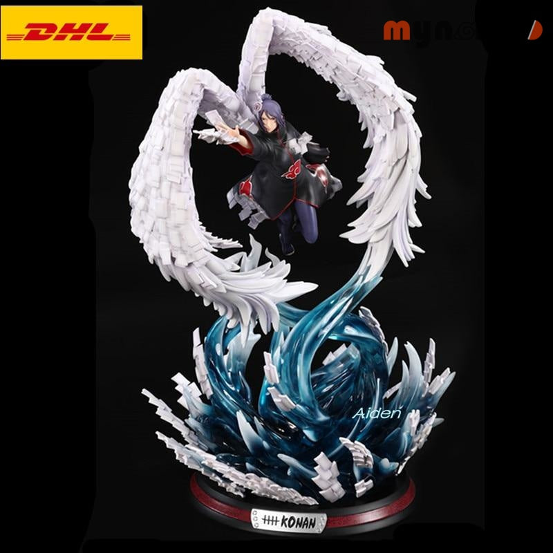20 NARUTO Akatsuki Statue With LED Light Konan Bust Full-Length Portrait GK Action Figure Collectible Model Toy BOX 52CM Z444 - Blue - 1