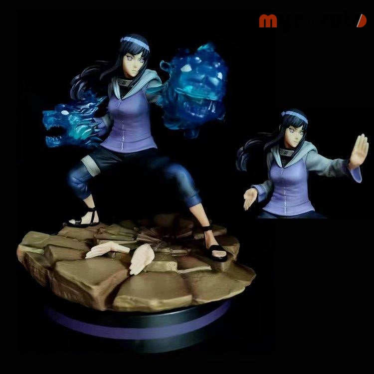 NEW Naruto Hyuuga Hin Ata Narutogals Figure Temple 22CM GK Hina Twin Lions Battle Statue Figures Anime figure Toys For gifts - NO BOX - 1