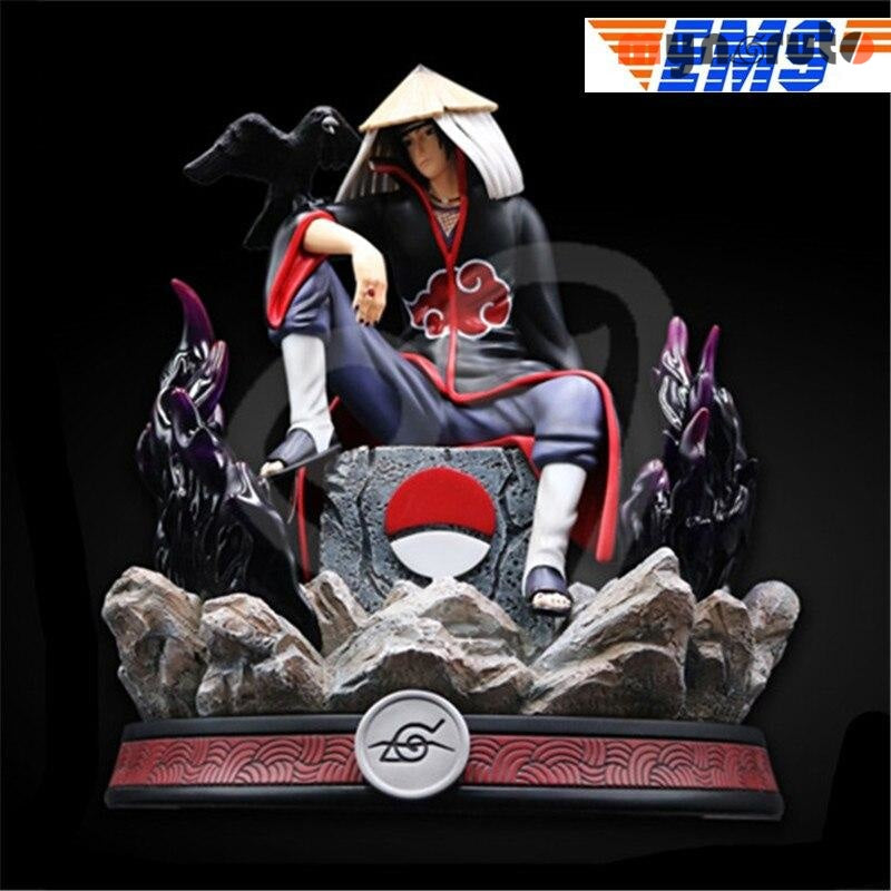 Statue NARUTO Uchiha Sasuke Sitting Bust MS-Z Series Akatsuki Full-Length Portrait GK Action Figure Collectible Toy P1018 - black - 7