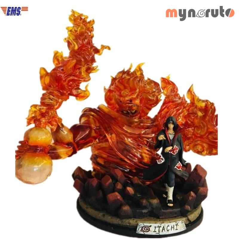 Anime Naruto Genius Ninja Uchiha Itachi Susanoo Scenes Resin Statue Action Figure Collection Decoration G2626 - Yellow - 1