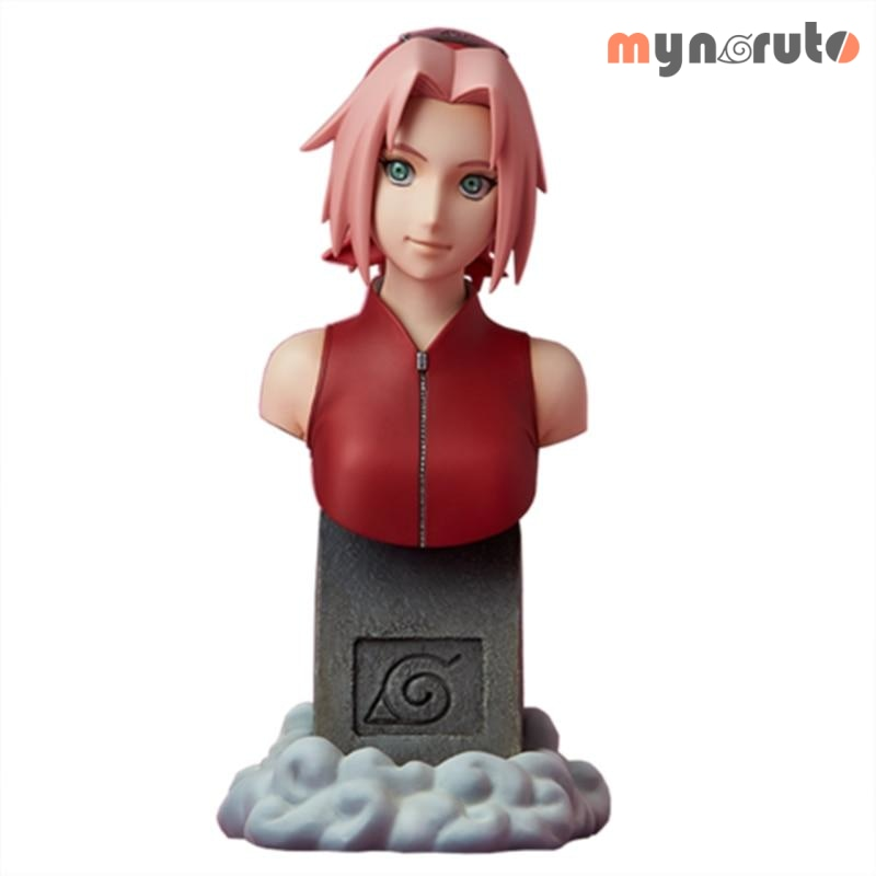 Naruto Shippuden Haruno Sakura 1/6 Half-length Portrait Bust PVC Sculpture Action Figure Collection Model Toy Kids Gift X5401 - MULTI - 1
