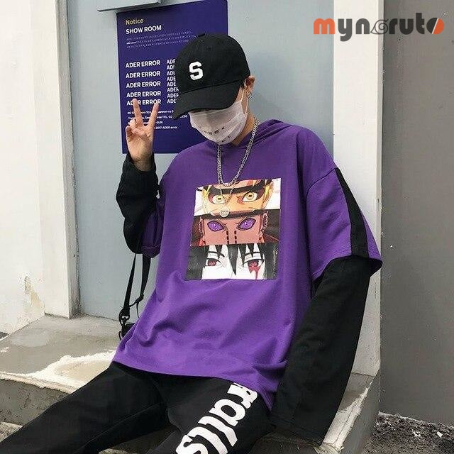 Pull streetwear Paix & Amour - Violet - 2