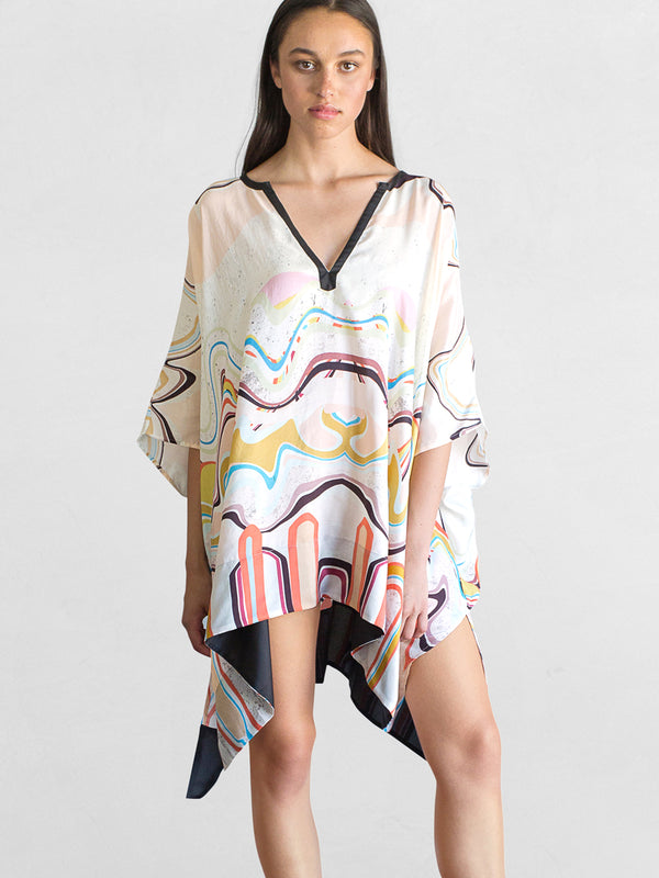 Waves Print - Kaftan