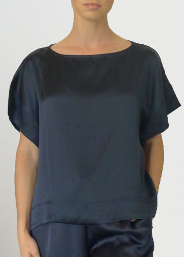 Silk Satin T shirt