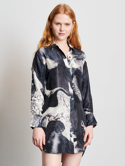 Black Marble - Boyfriend Shirt