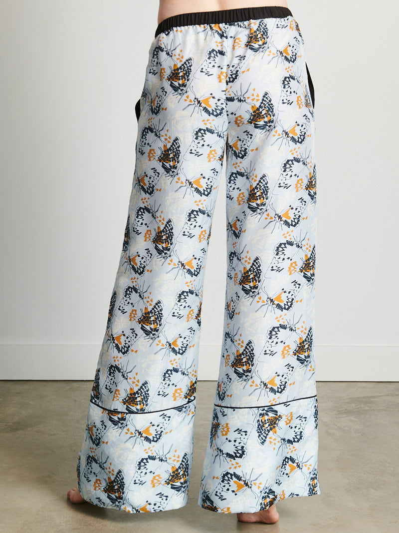 Animal Butterfly- Signature Pant, Light Blue