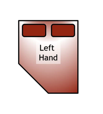 left hand bed shape