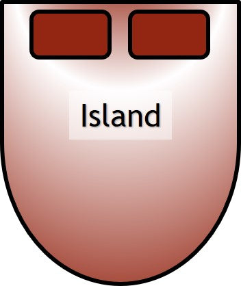 Island shaped bed