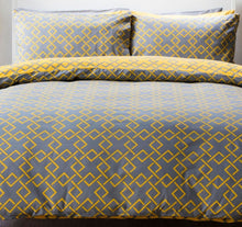 Load image into Gallery viewer, Atlanta Double Duvet Set Saffron