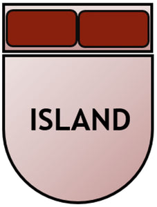 Example of Island bed shape, square at top with rounded bottom