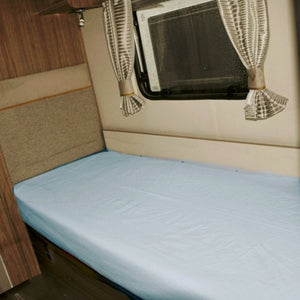 Blue single caravan sheet