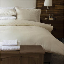 Load image into Gallery viewer, Egyptian Cotton Hotel Stripe- Double - Ivory