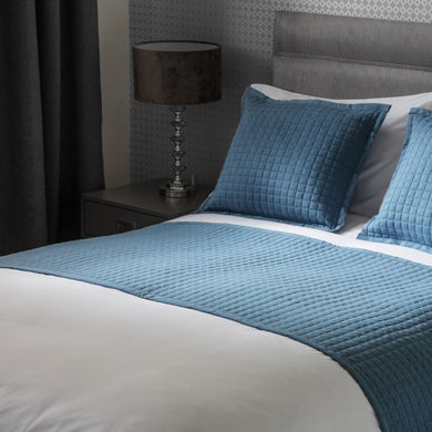 Blue Crompton Bed runner