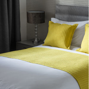 Yellow Crompton Bed runner