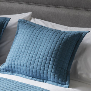 Blue Crompton Filled Cushion