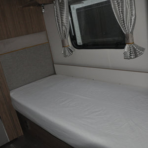 White single caravan sheet