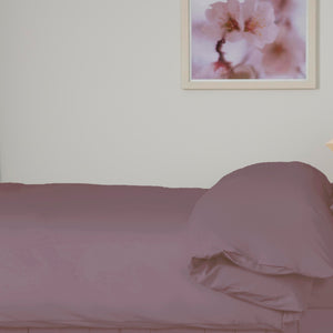 Mulberry coloured duvet set