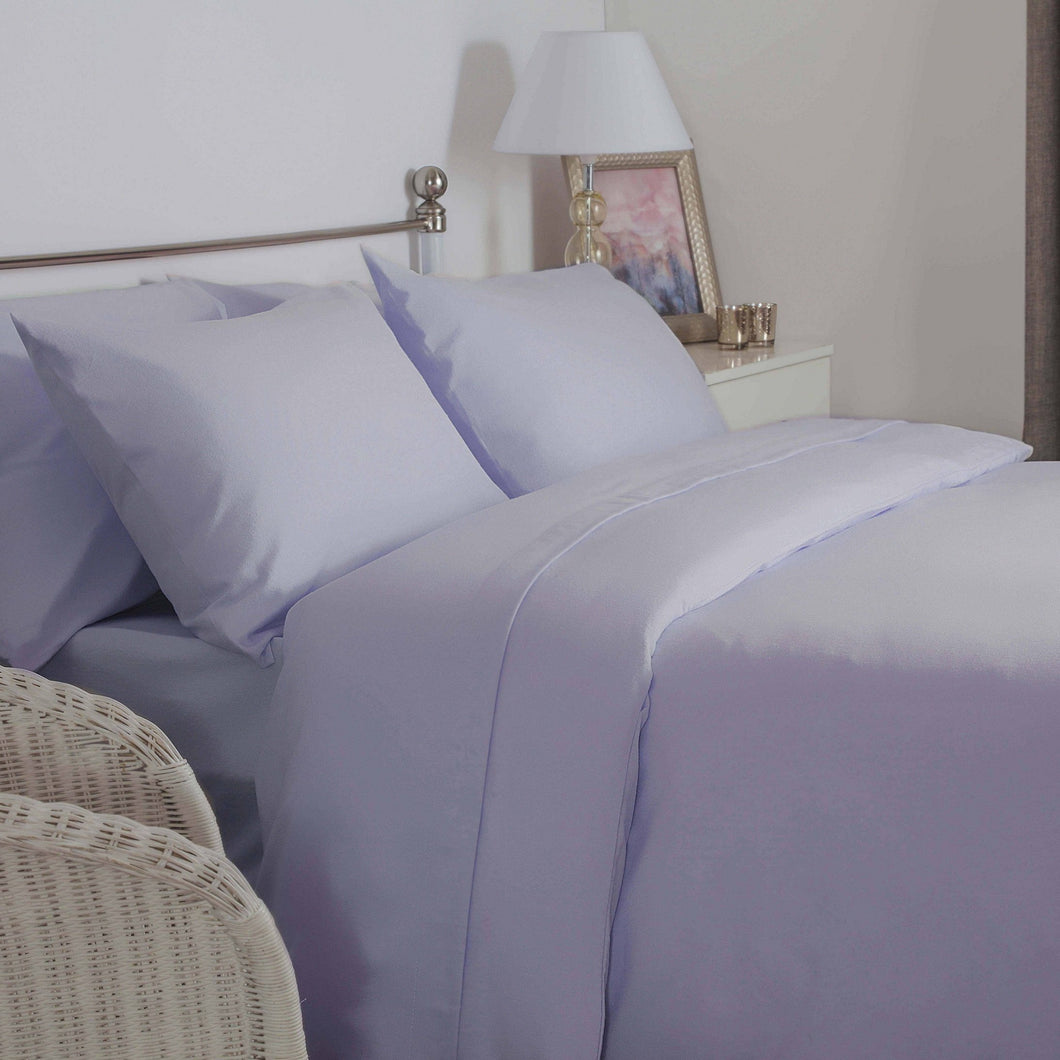 Lilac brushed cotton double bedding set