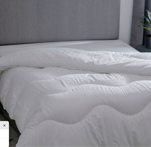 Luxury hotel suite duvet