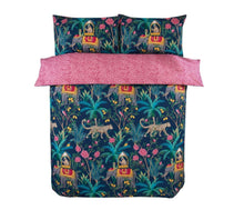 Load image into Gallery viewer, Jungle Expedition Navy Double Duvet set