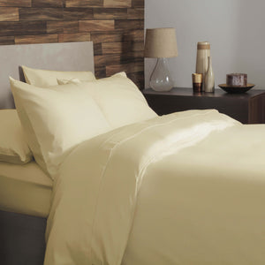 Lemon brushed cotton double bedding set