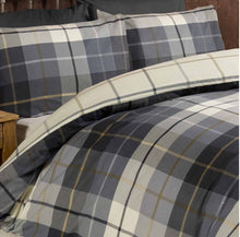 Load image into Gallery viewer, This classic Lomond tartan check print duvet cover is the perfect way to add some traditional and trend driven design into your van. The rich colours throughout are ideal for this season and the coordinating understated reverse print adds some superb extra detail.