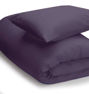 Mauve coloured duvet set