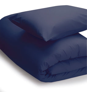 Navy coloured bedding