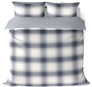These Oakland duvet covers feature a classic tartan check design and star reverse, brought up to date in shades of denim blue.
