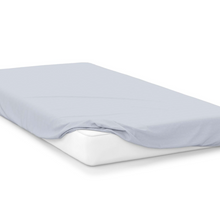 Load image into Gallery viewer, ocean blue right hand bed shape egyptian cotton fitted sheet