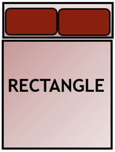 Example of rectangle bed shape.