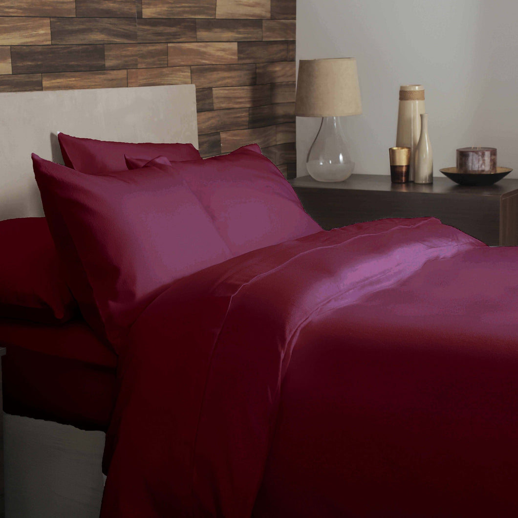 Red brushed cotton double bedding set