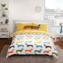 Load image into Gallery viewer, Sausage dog Double Duvet set
