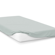 Load image into Gallery viewer, thyme  right hand bed shape egyptian cotton fitted sheet