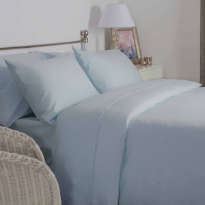 Light Blue brushed cotton double bedding set