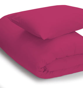 Fuschia coloured bedding