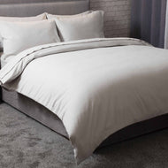 Light grey brushed cotton double bedding set