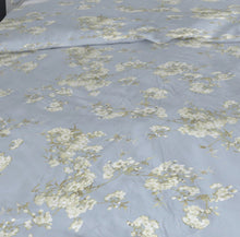 Load image into Gallery viewer, Orchard by belledorm duvet set. Duck egg background with white floral pattern