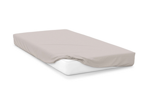 oyster  right hand bed shape egyptian cotton fitted sheet